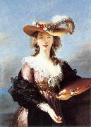 Self-Portrait in a Straw Hat r, VIGEE-LEBRUN, Elisabeth